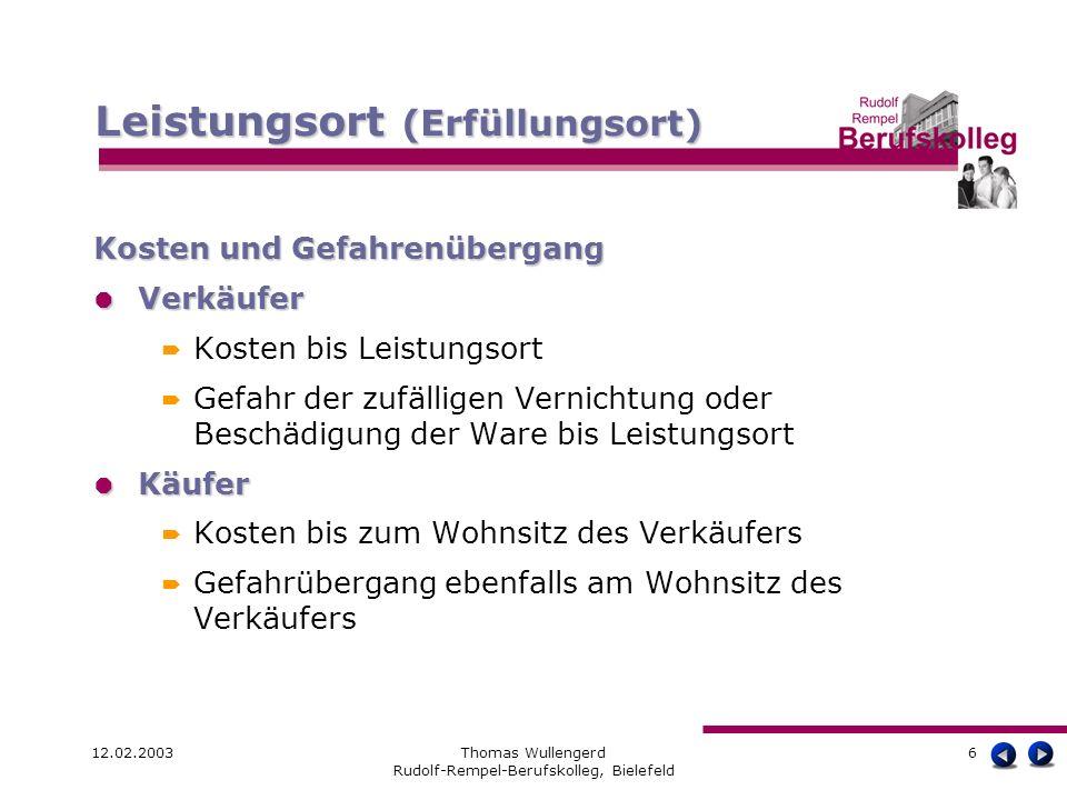 Thomas Wullengerd Rudolf-Rempel-Berufskolleg, Bielefeld
