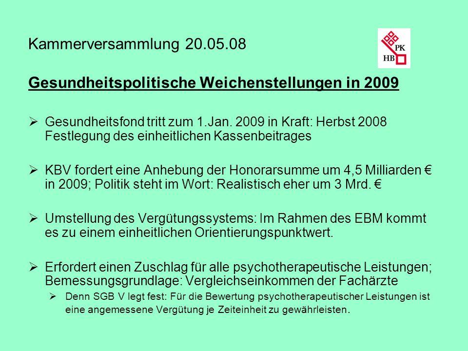 Gesundheitspolitische Weichenstellungen in 2009