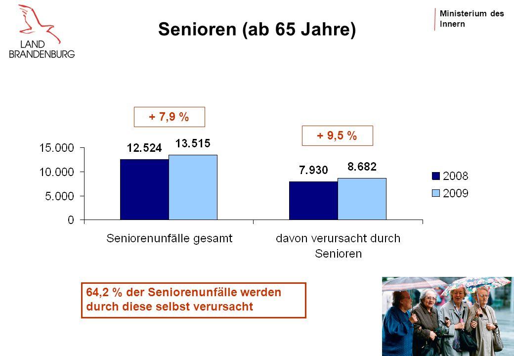 Senioren (ab 65 Jahre) + 7,9 % + 9,5 %