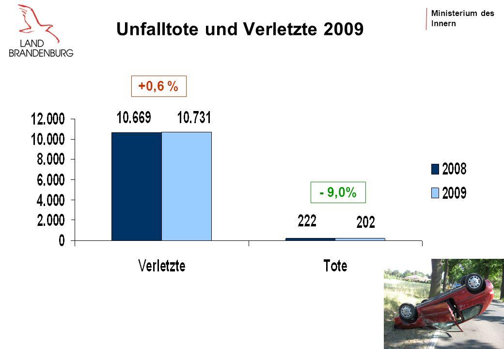 Unfalltote und Verletzte 2009