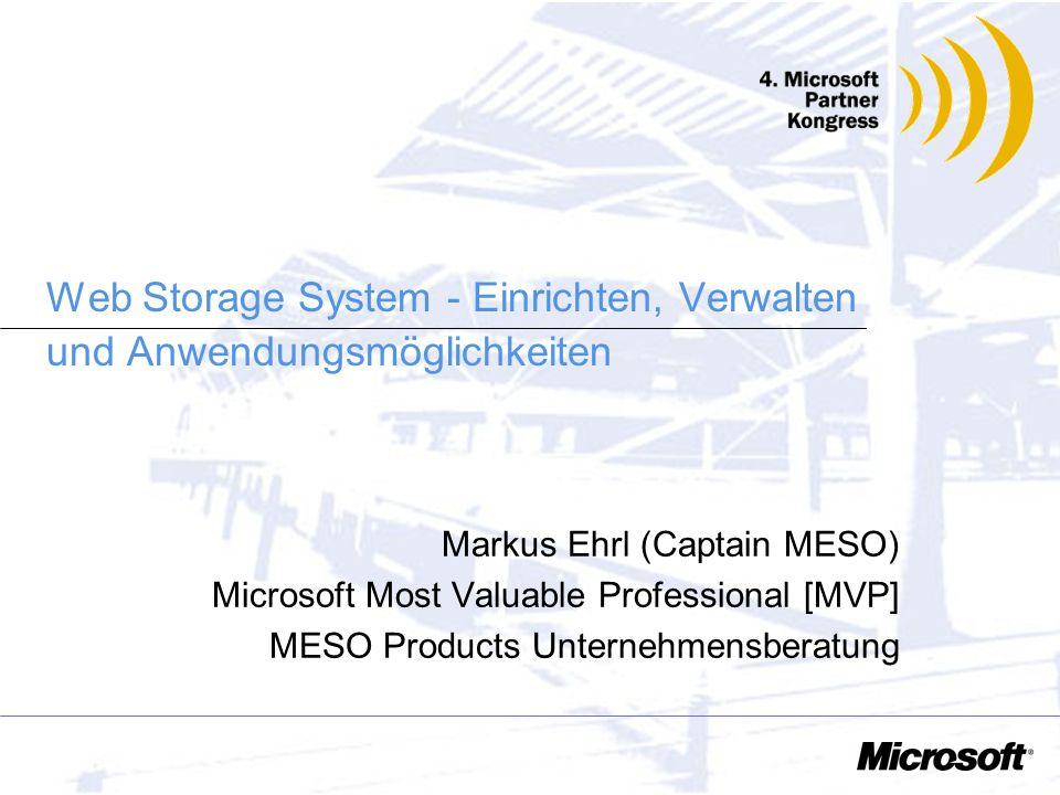 Web Storage System - Einrichten, Verwalten und Anwendungsmöglichkeiten