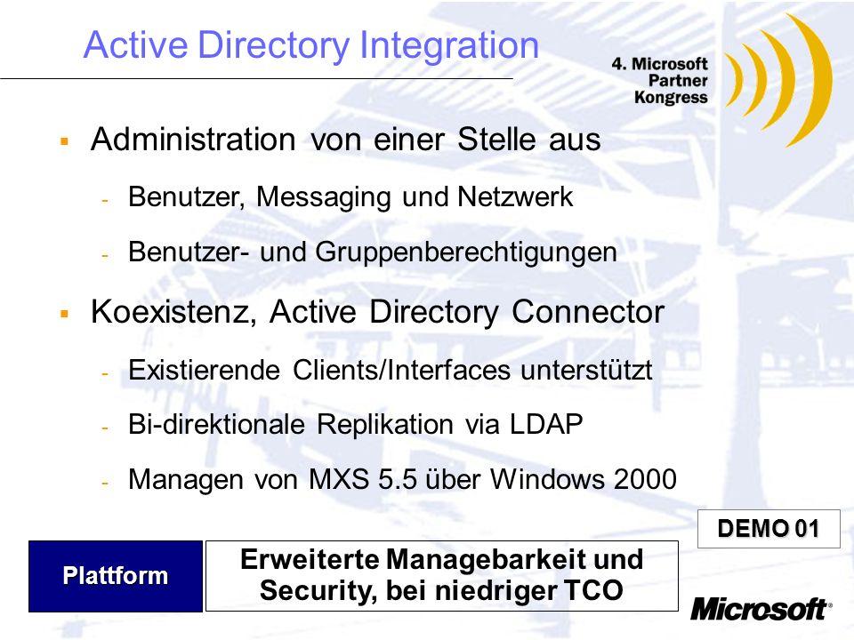 Erweiterte Managebarkeit und Security, bei niedriger TCO