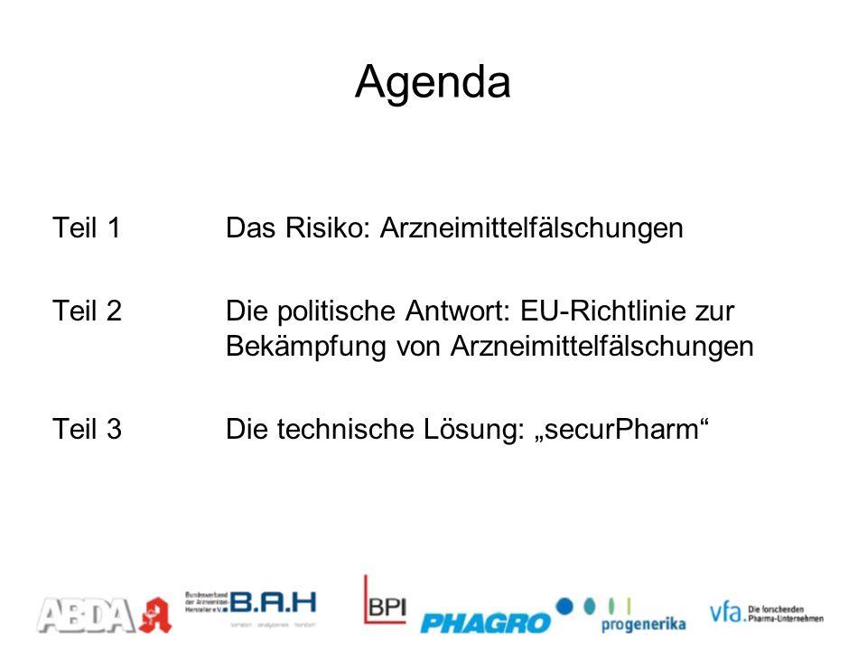 Agenda Teil 1 Das Risiko: Arzneimittelfälschungen