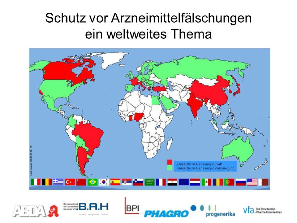 Schutz vor Arzneimittelfälschungen ein weltweites Thema