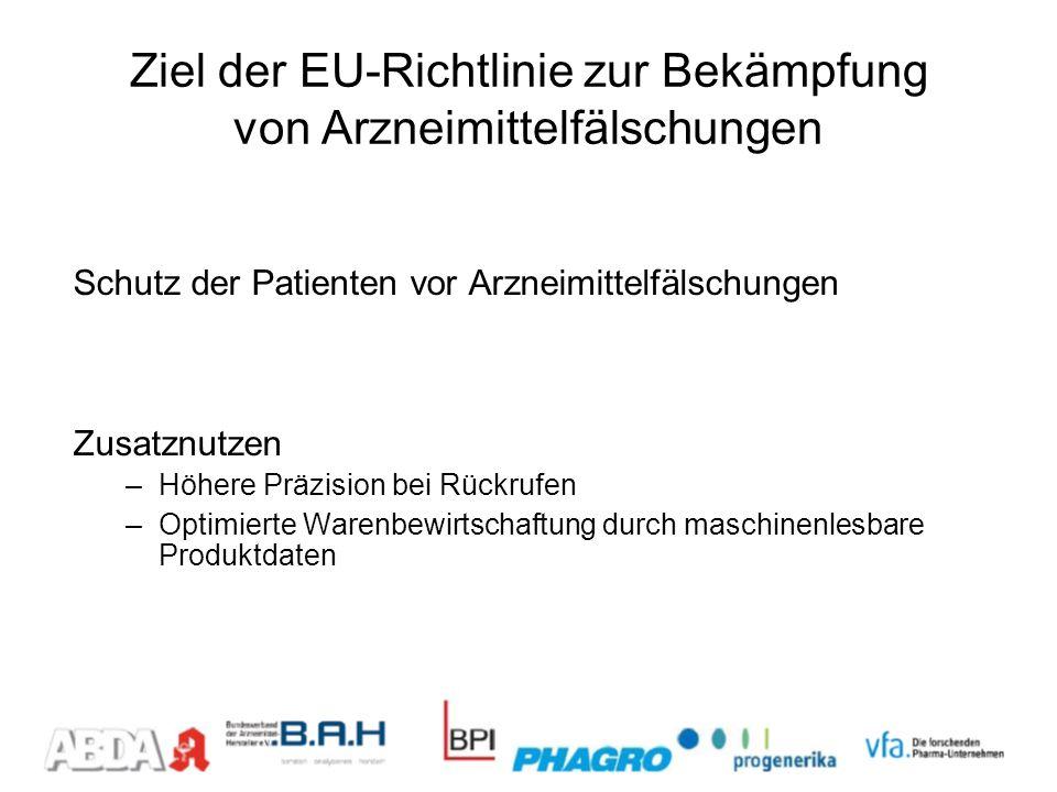 Ziel der EU-Richtlinie zur Bekämpfung von Arzneimittelfälschungen