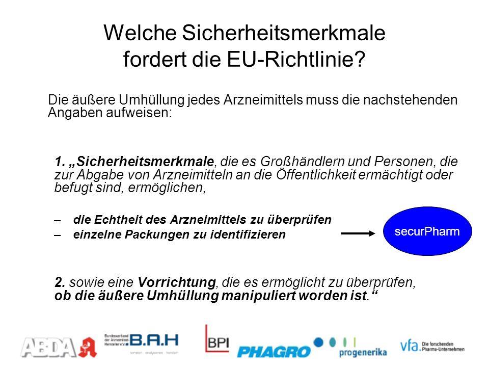 Welche Sicherheitsmerkmale fordert die EU-Richtlinie