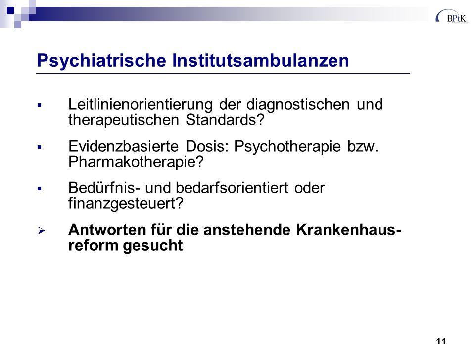 Psychiatrische Institutsambulanzen