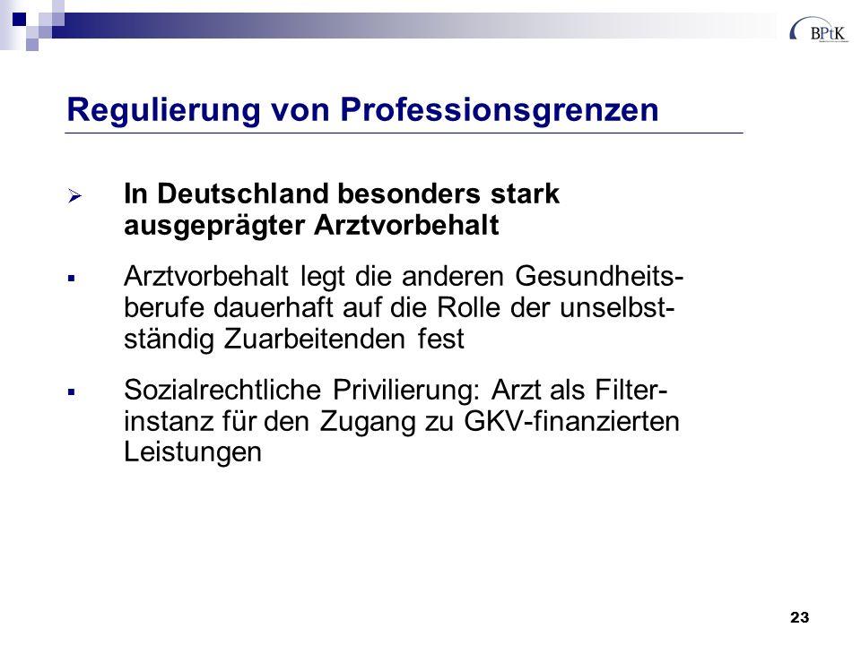 Regulierung von Professionsgrenzen