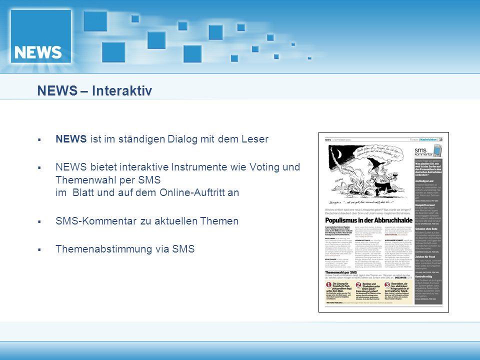 NEWS – Interaktiv NEWS ist im ständigen Dialog mit dem Leser