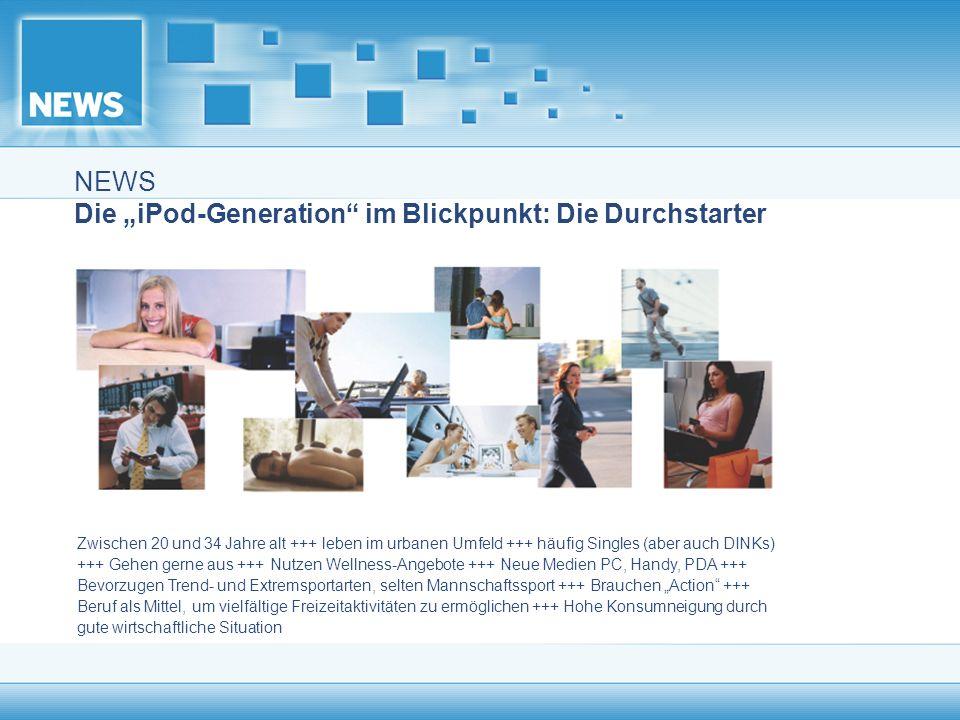 """NEWS Die """"iPod-Generation im Blickpunkt: Die Durchstarter"""