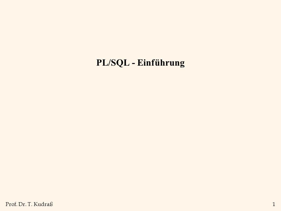 PL/SQL - Einführung 1