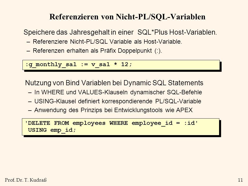 Referenzieren von Nicht-PL/SQL-Variablen