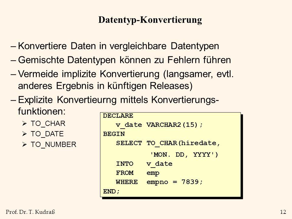 Datentyp-Konvertierung