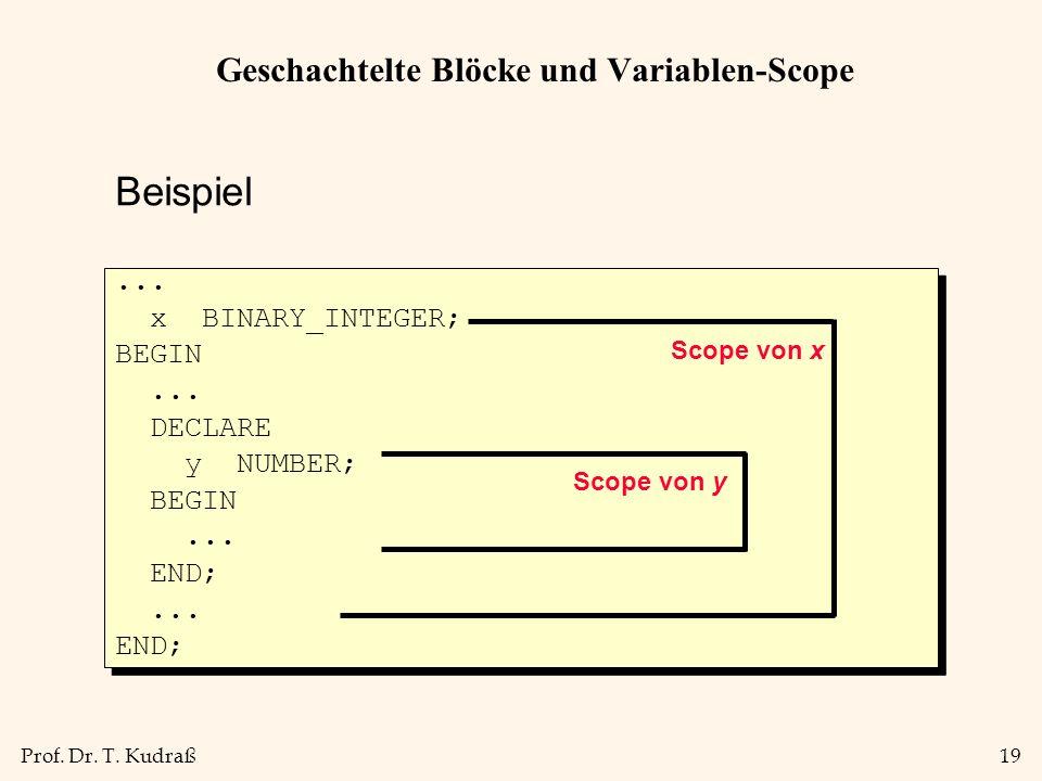 Geschachtelte Blöcke und Variablen-Scope