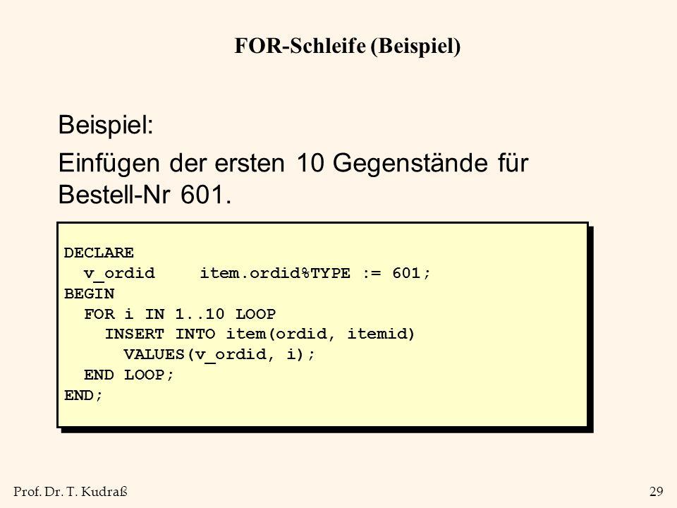 FOR-Schleife (Beispiel)