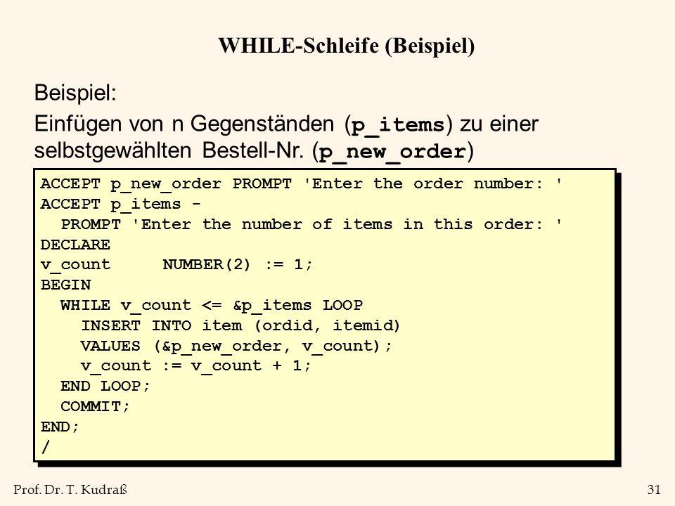 WHILE-Schleife (Beispiel)