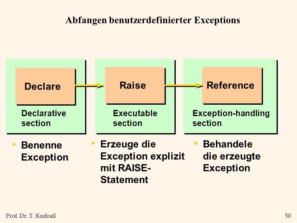 Abfangen benutzerdefinierter Exceptions