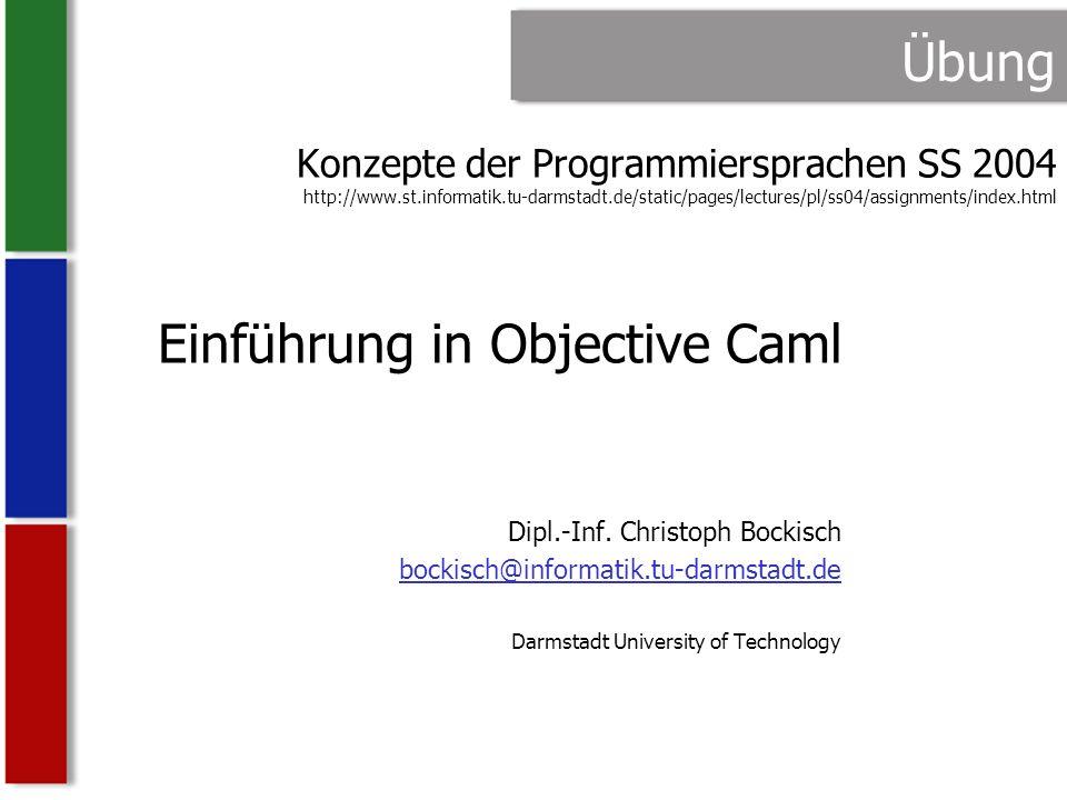 Einführung in Objective Caml