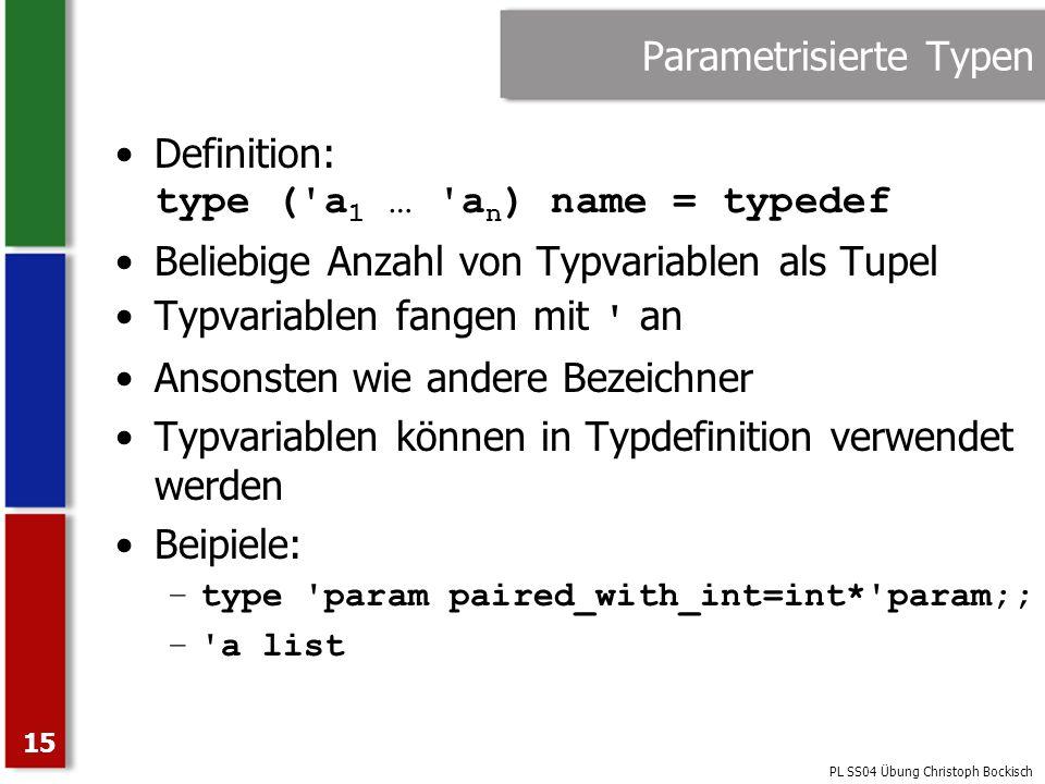 Parametrisierte Typen