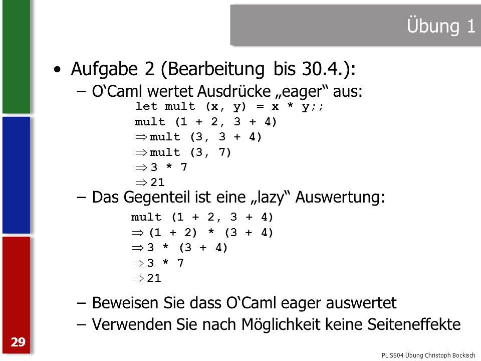 Aufgabe 2 (Bearbeitung bis 30.4.):