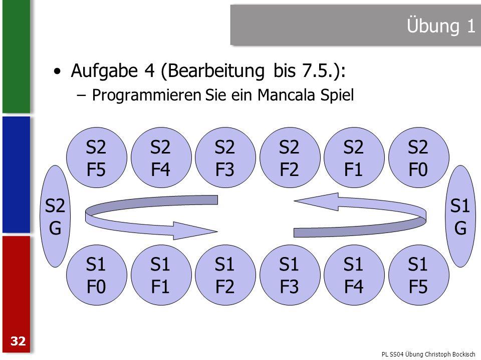 Aufgabe 4 (Bearbeitung bis 7.5.):