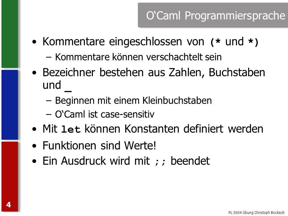 O'Caml Programmiersprache