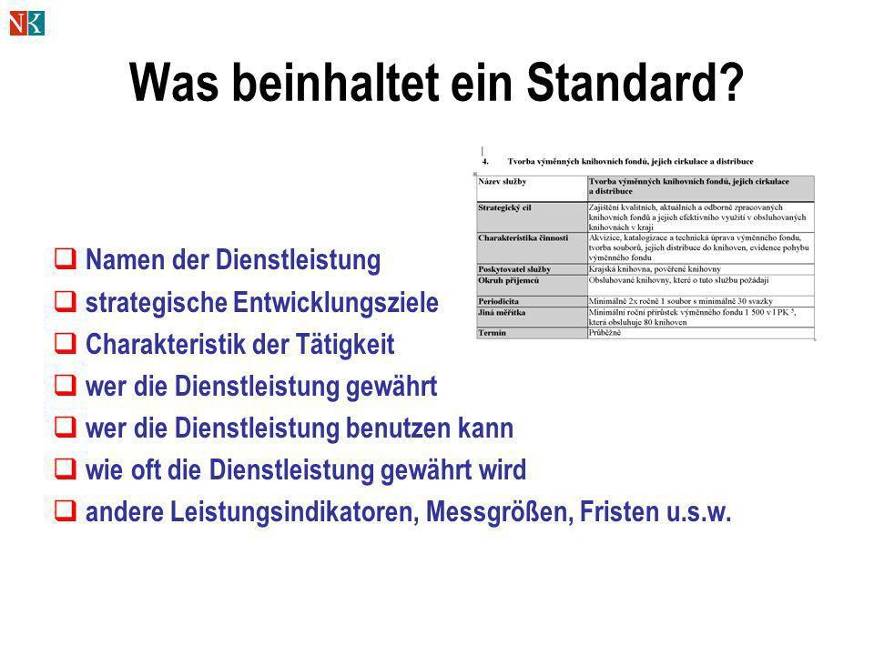 Was beinhaltet ein Standard