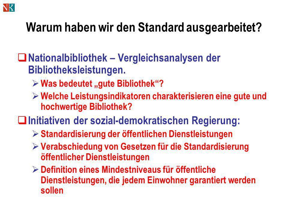 Warum haben wir den Standard ausgearbeitet