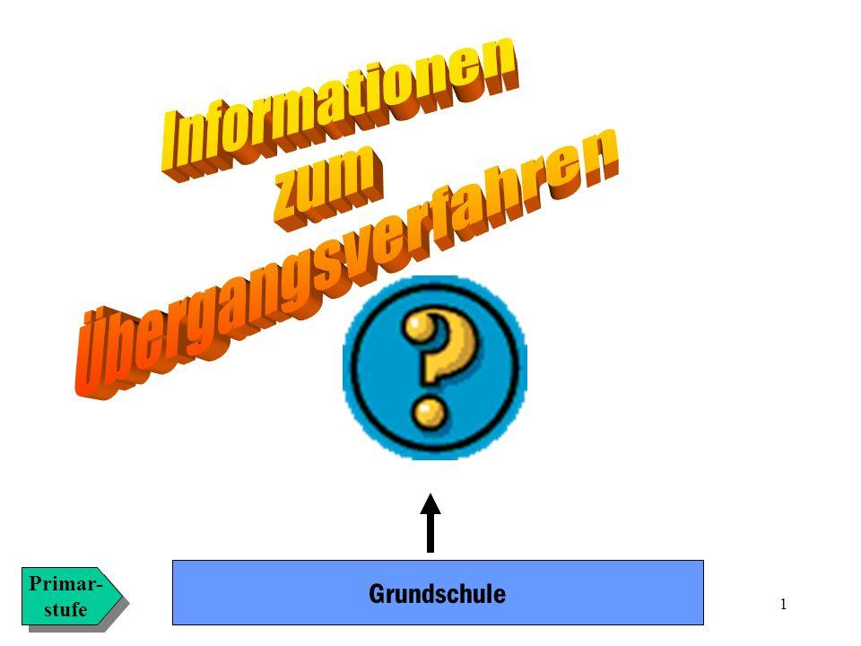 Informationen zum Übergangsverfahren Grundschule Primar- stufe