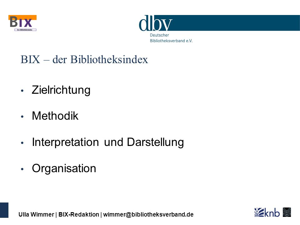 BIX – der Bibliotheksindex