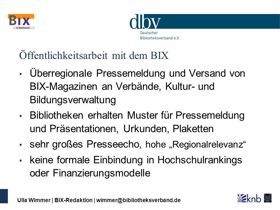 Öffentlichkeitsarbeit mit dem BIX