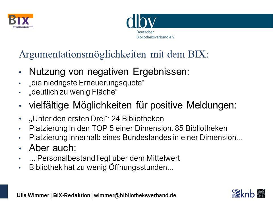 Argumentationsmöglichkeiten mit dem BIX:
