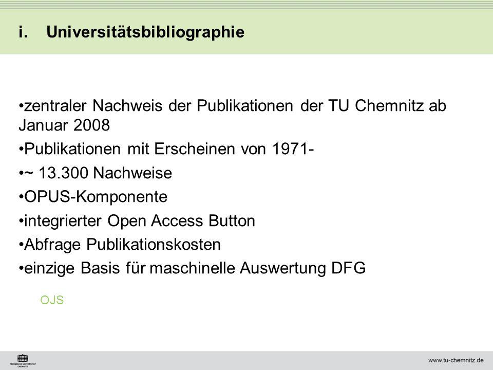 Universitätsbibliographie