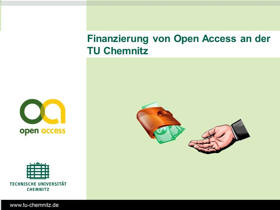 Finanzierung von Open Access an der TU Chemnitz