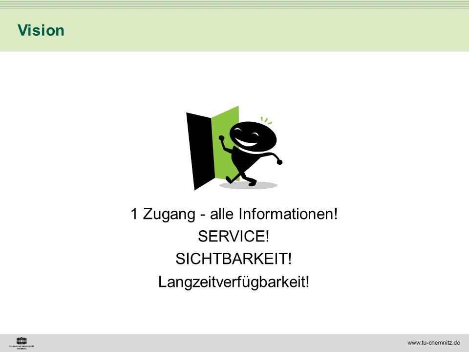1 Zugang - alle Informationen! SERVICE! SICHTBARKEIT!