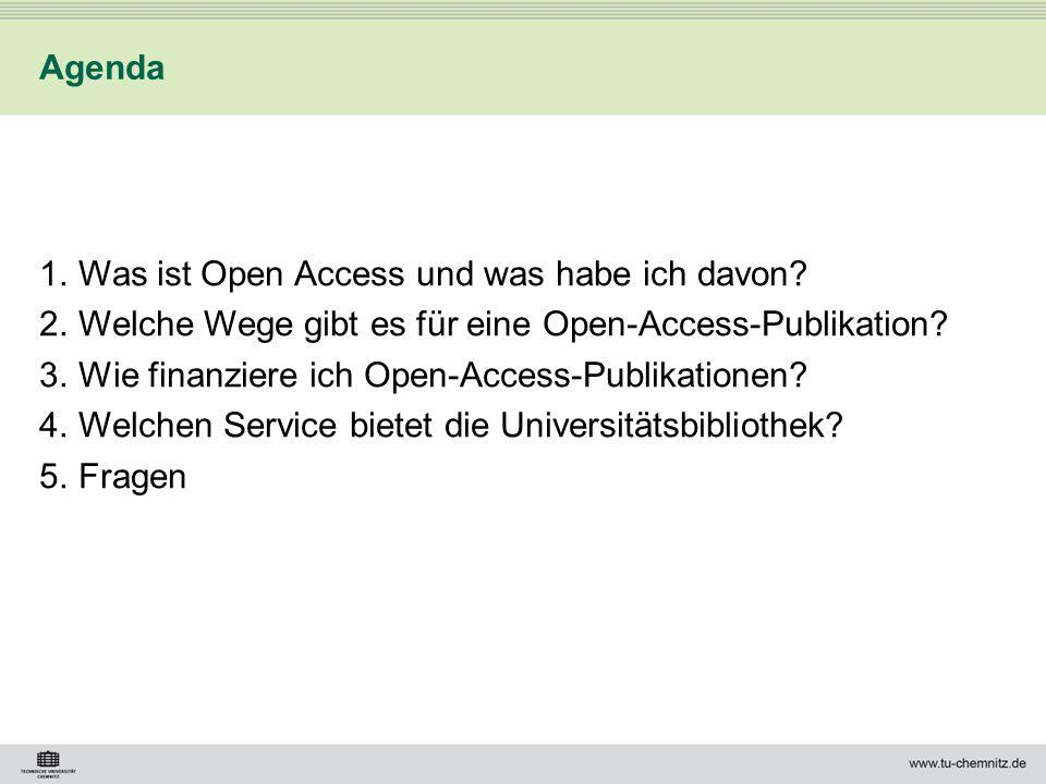 Was ist Open Access und was habe ich davon