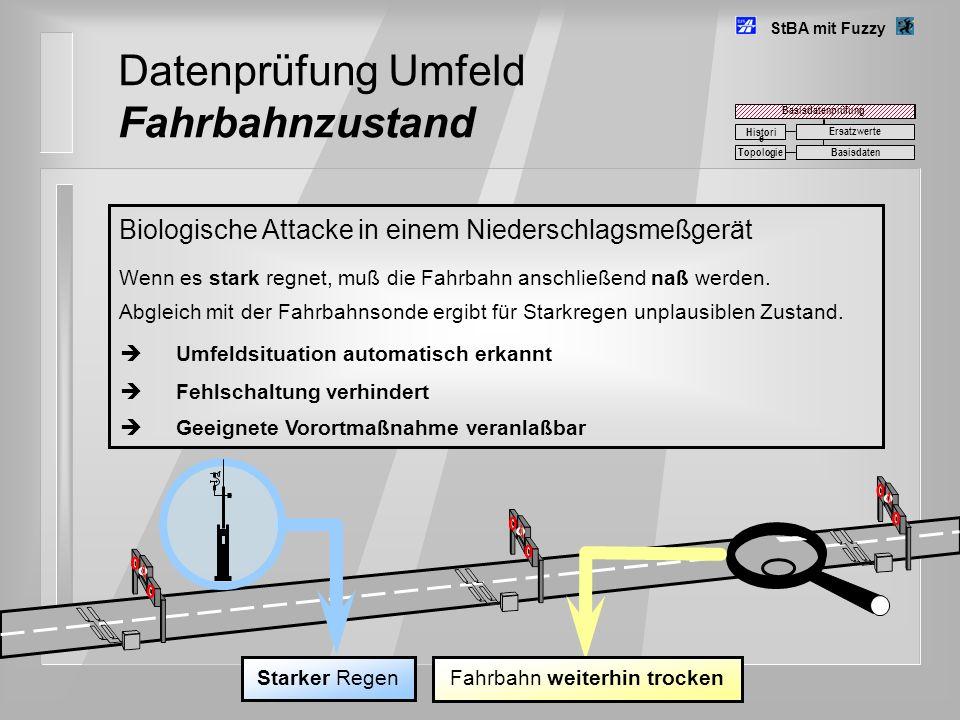 Datenprüfung Umfeld Fahrbahnzustand