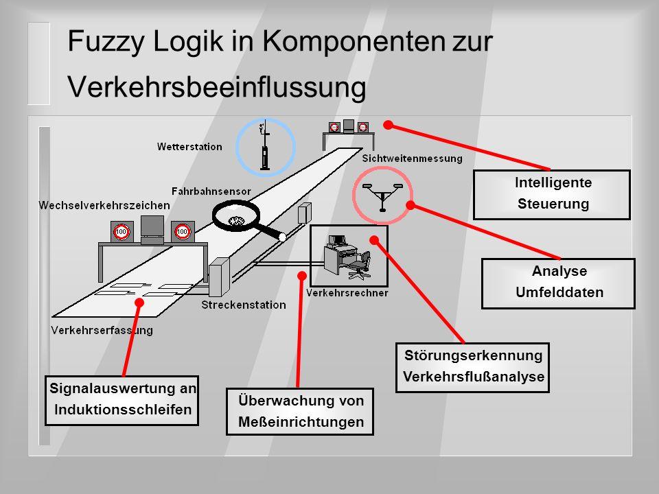 Fuzzy Logik in Komponenten zur Verkehrsbeeinflussung