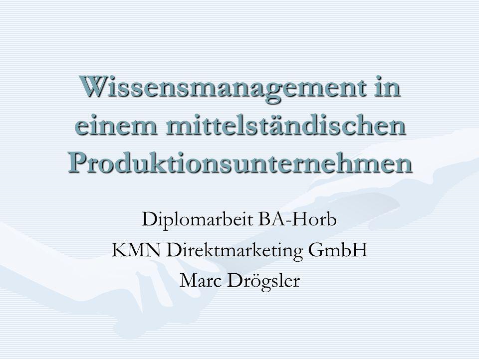 Wissensmanagement in einem mittelständischen Produktionsunternehmen