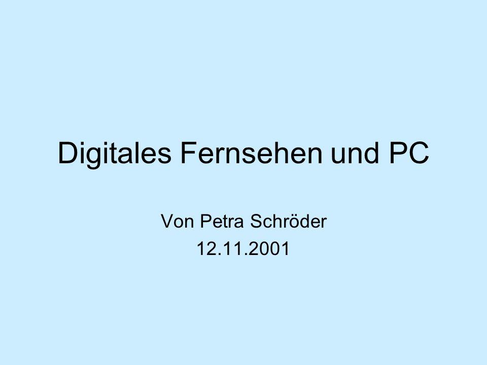 Digitales Fernsehen und PC