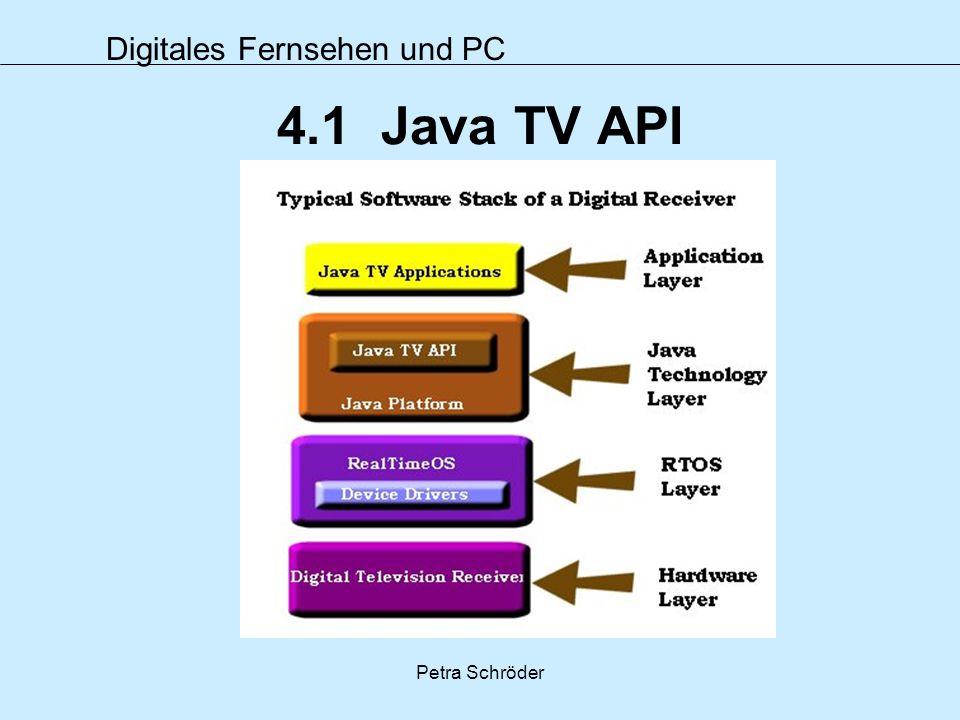 4.1 Java TV API Petra Schröder