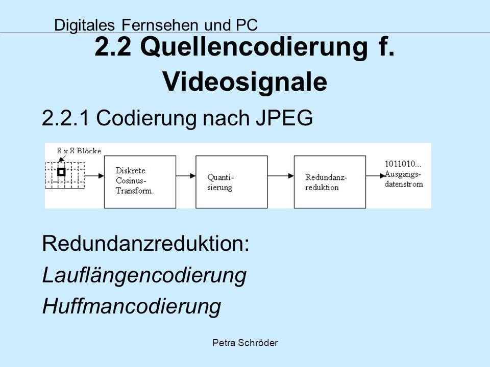 2.2 Quellencodierung f. Videosignale