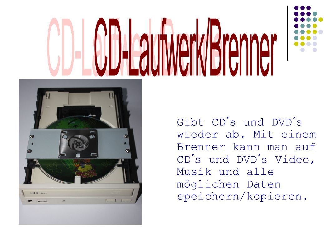 CD-Laufwerk/Brenner