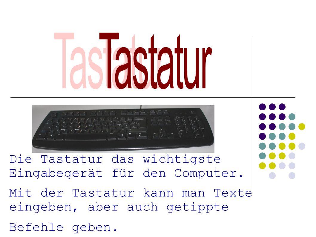 Tastatur Die Tastatur das wichtigste Eingabegerät für den Computer.