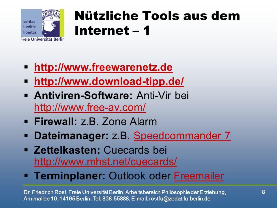 Nützliche Tools aus dem Internet – 1