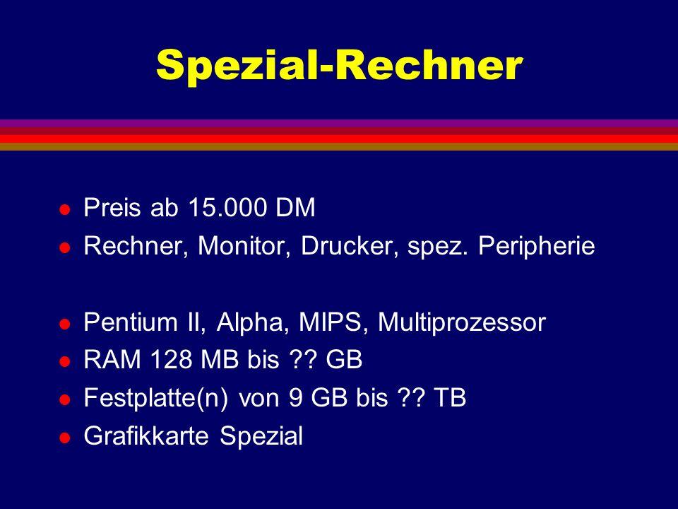 Spezial-Rechner Preis ab 15.000 DM