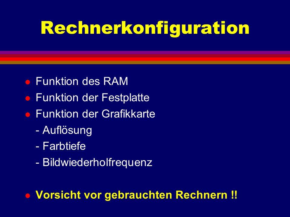 Rechnerkonfiguration