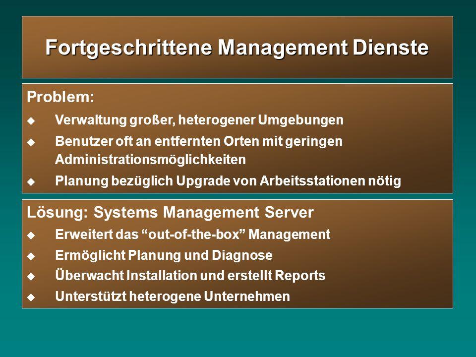 Fortgeschrittene Management Dienste