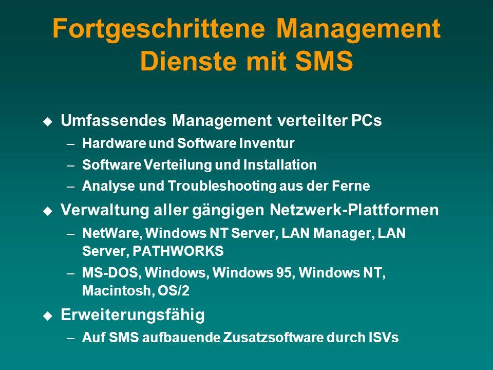 Fortgeschrittene Management Dienste mit SMS