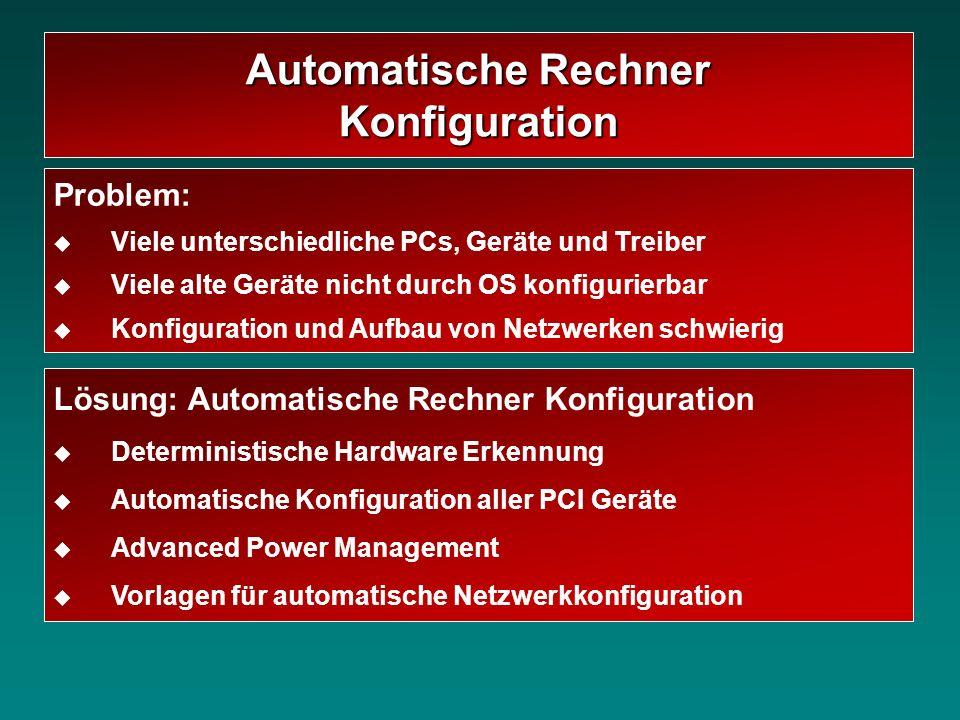 Automatische Rechner Konfiguration